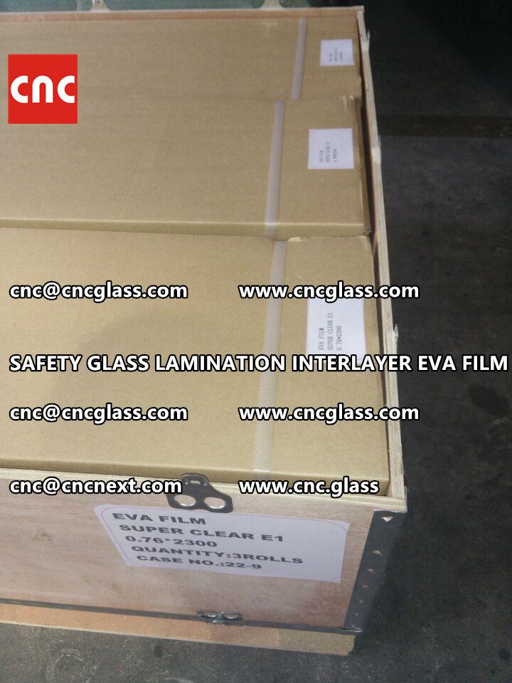 SAFETY GLASS LAMINATION INTERLAYER EVA FILM PACKING LOADING (15)