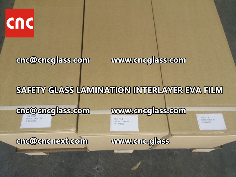 SAFETY GLASS LAMINATION INTERLAYER EVA FILM PACKING LOADING (20)