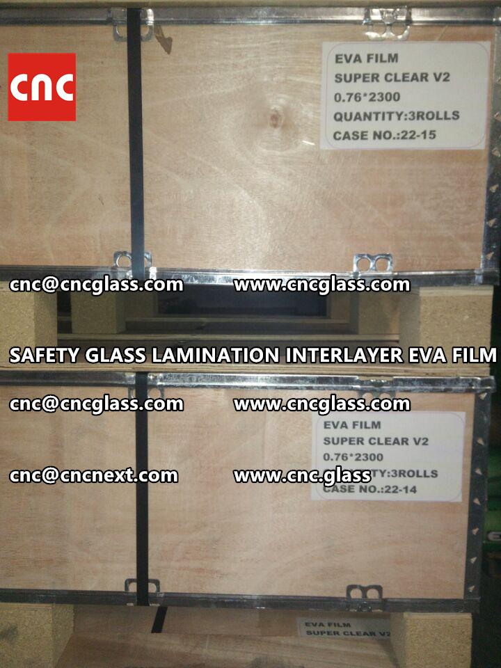 SAFETY GLASS LAMINATION INTERLAYER EVA FILM PACKING LOADING (21)