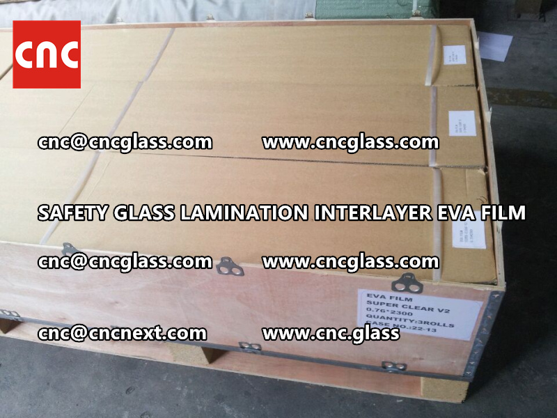 SAFETY GLASS LAMINATION INTERLAYER EVA FILM PACKING LOADING (3)