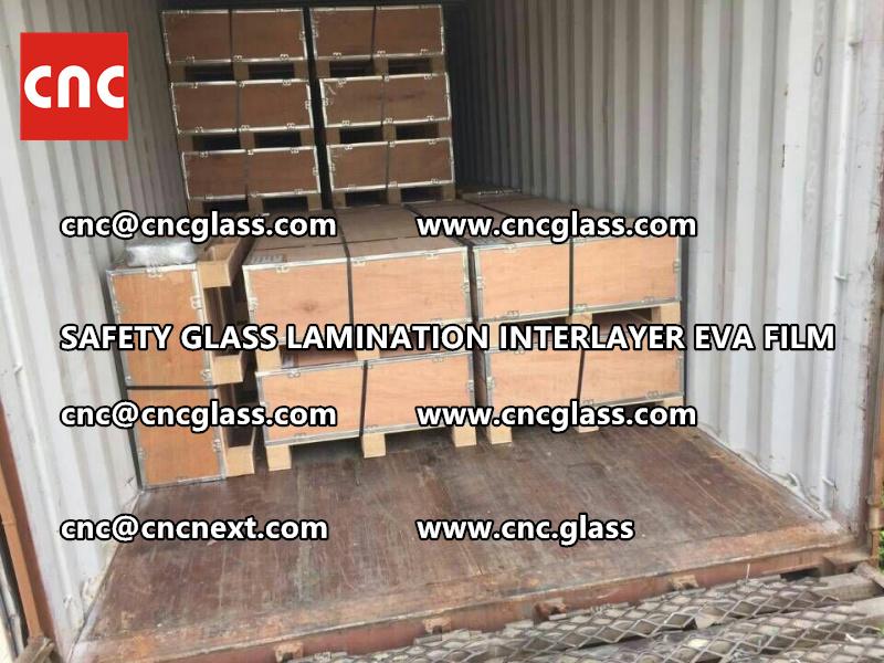 SAFETY GLASS LAMINATION INTERLAYER EVA FILM PACKING LOADING (32)