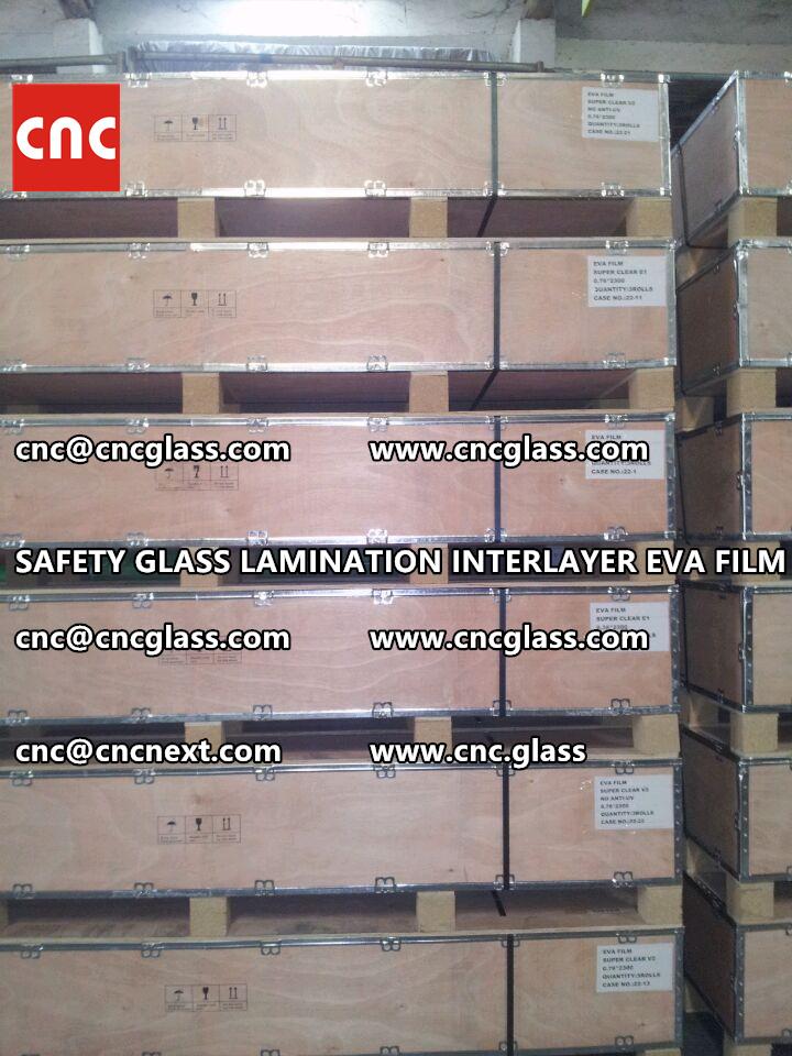 SAFETY GLASS LAMINATION INTERLAYER EVA FILM PACKING LOADING (9)