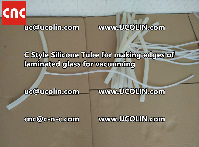 C Style Silicone Tube for making edges of laminated glass for vacuuming (20)