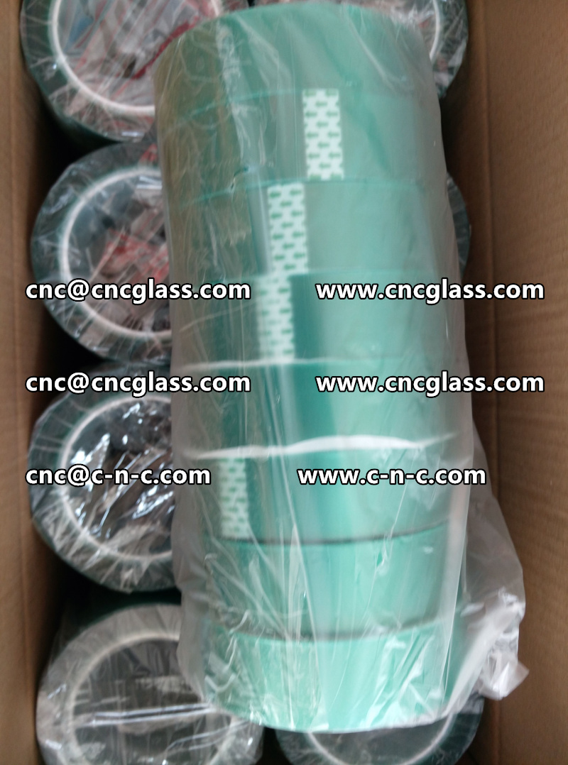 PET GREEN TAPE PET SILICONE TAPE FOR SAFETY GLASS  (2)